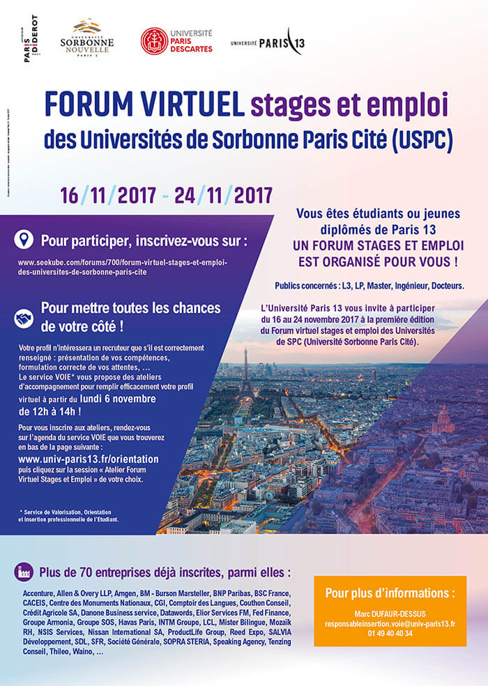 affiche forum virtuel
